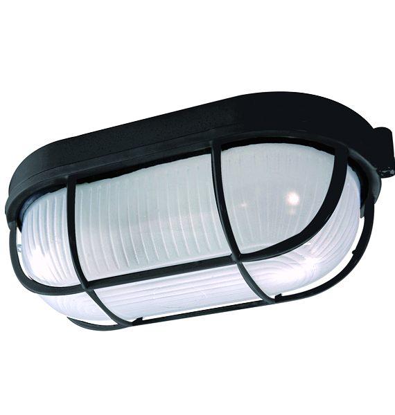 Al lampa Fido crna/IP54/E27/60W Brilum