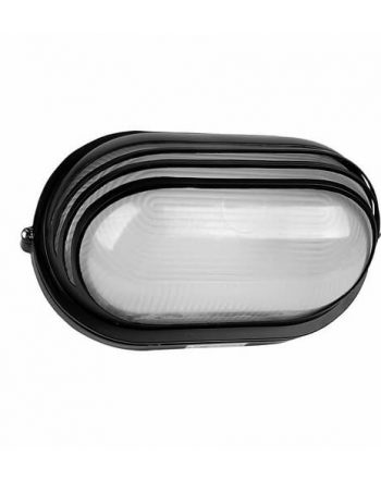 Zidna Al lampa 232 crna/IP54/E27/100W Brilight