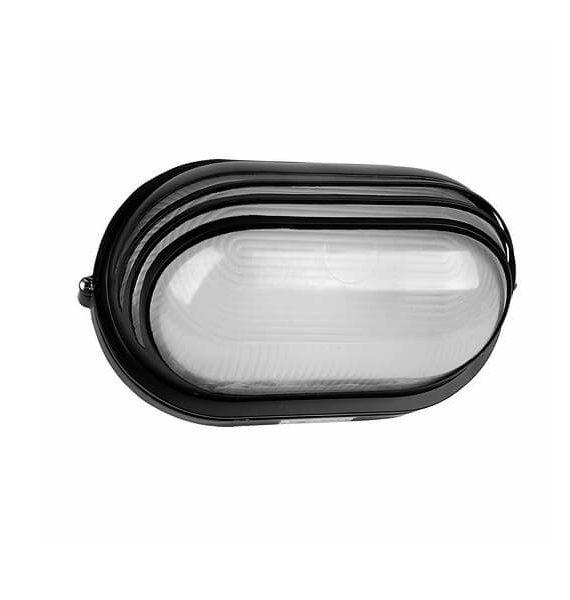 Zidna Al lampa 232 crna/IP54/E27/100W Brilight
