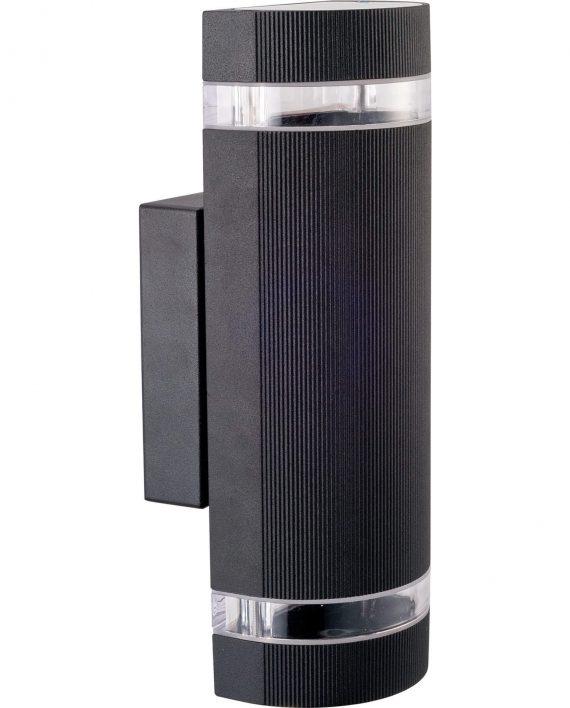 Avan O2 zidna lampa 2xGU10 max 35W IP44 crna