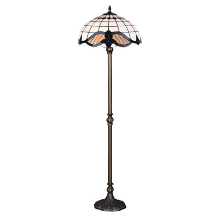 HN3083-FL - TIFFANY PODNA LAMPA E-27 2x60W BRILIGHT