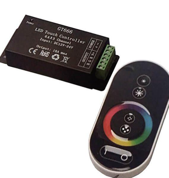 Led kontroler RGB RF 10 3*6A/216W/12V sa daljinskim Brilight