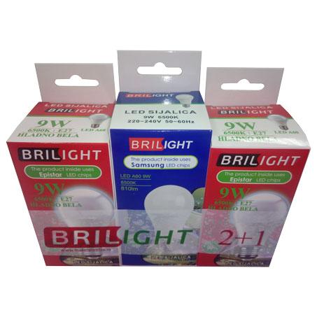 LED PAKET A60 9W/E27/6500K/230°/810Lm 2 EPISTAR + 1 SAMSUNG