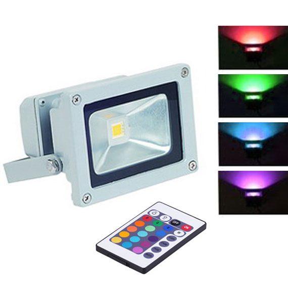 LED REFLEKTOR 10W RGB IP65 BRILIGHT