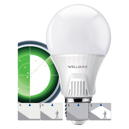 LED SIJALICA A60 SENZOR 9W/E27/6500K/230°/810Lm WELLMAX