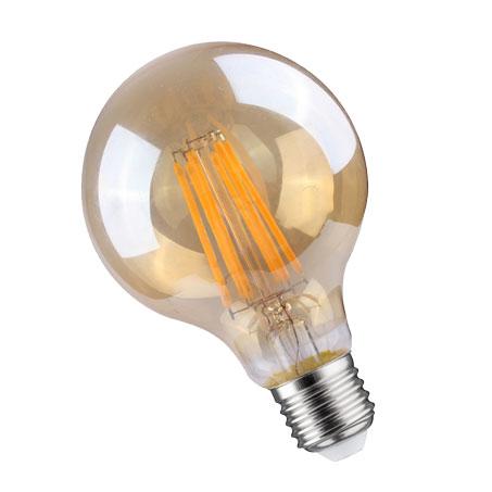 LED SIJALICA G125 FILAMENT 8W/E27/2700K/950Lm WELLMAX