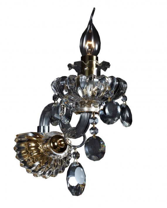 Zidna svetiljka kristal K9 NEMESIS 1 E14 max 40W Brilight